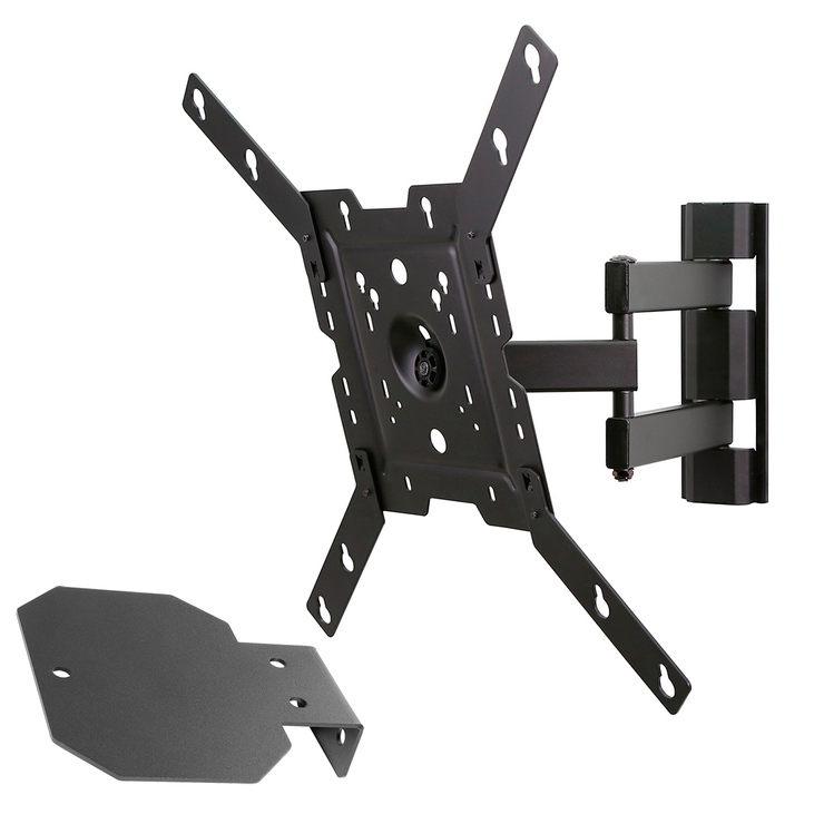 "Peerless soporte para TV de 32"" a 50"" + charola para dvd, blu ray y/o decodificador y cable HDMI"
