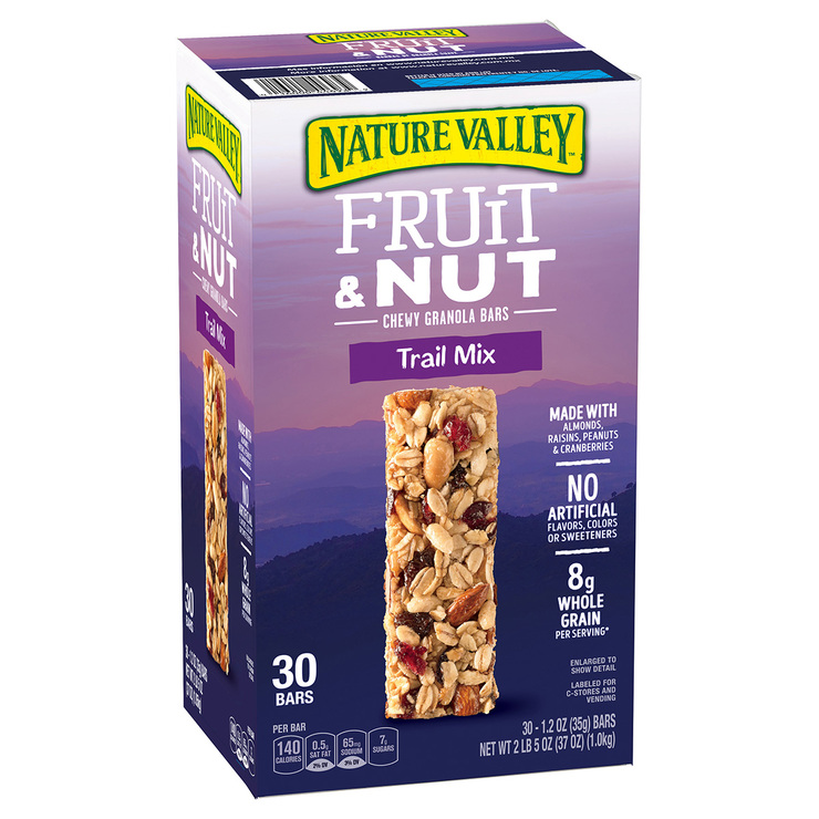 Nature Valley trail mix, 30 barras de 35 g
