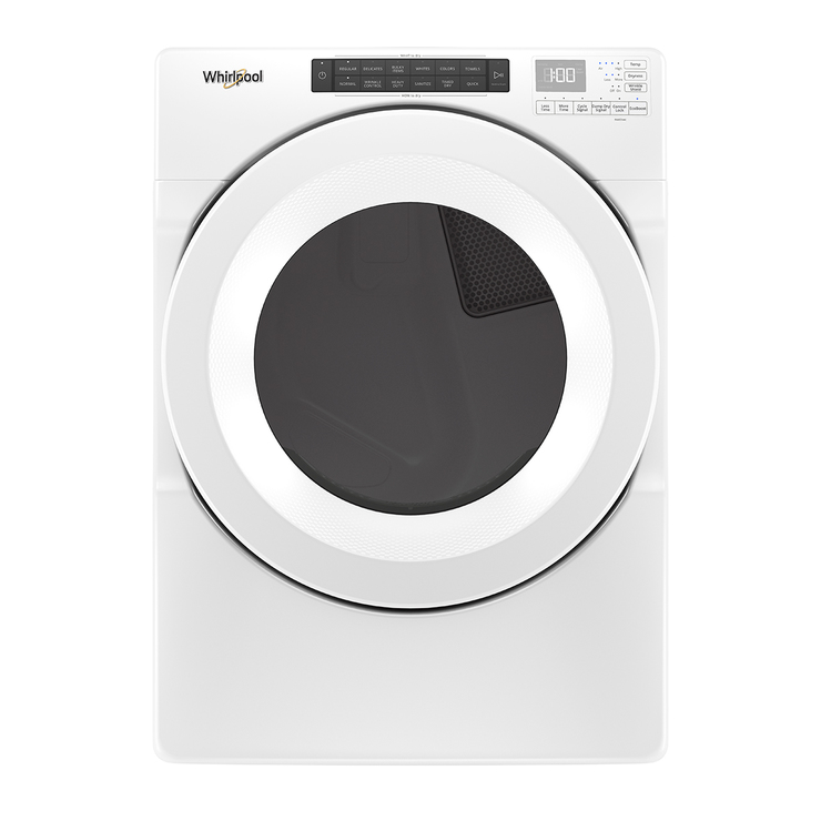 Secadora Whirlpool de 18Kg carga frontal, color blanco