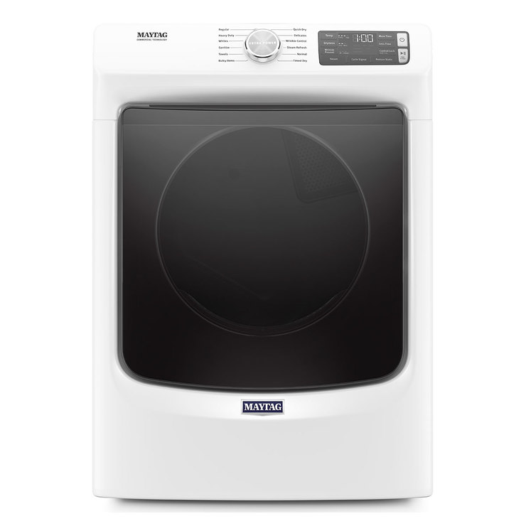 Secadora Maytag de 22Kg carga frontal con sistema Extra Power, color blanco