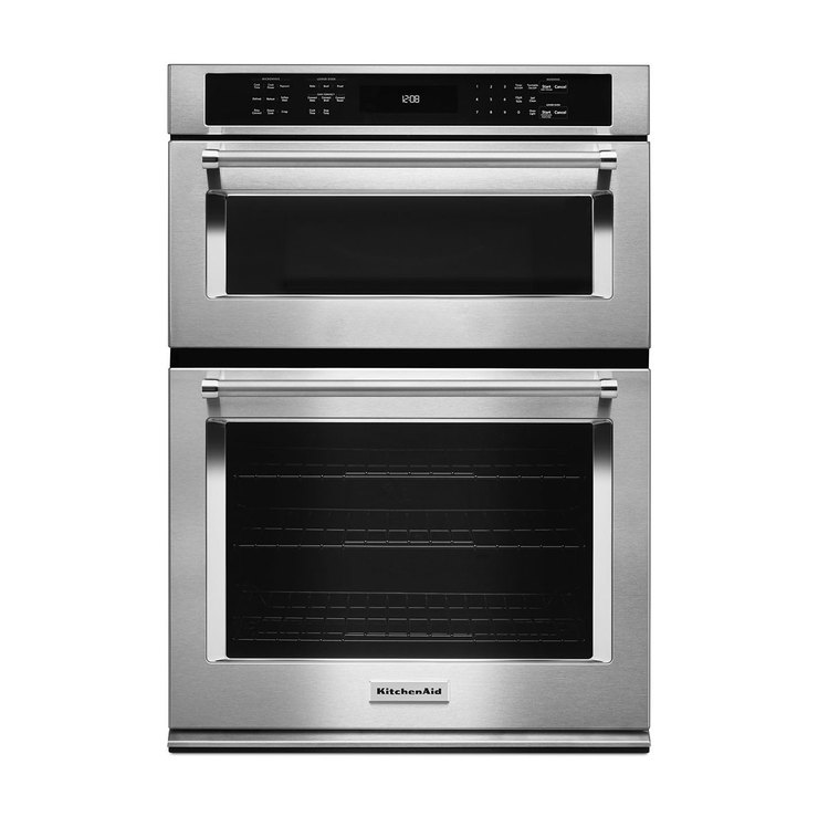 "Horno eléctrico doble KitchenAid empotrable de 30"" con EvenHeat™"