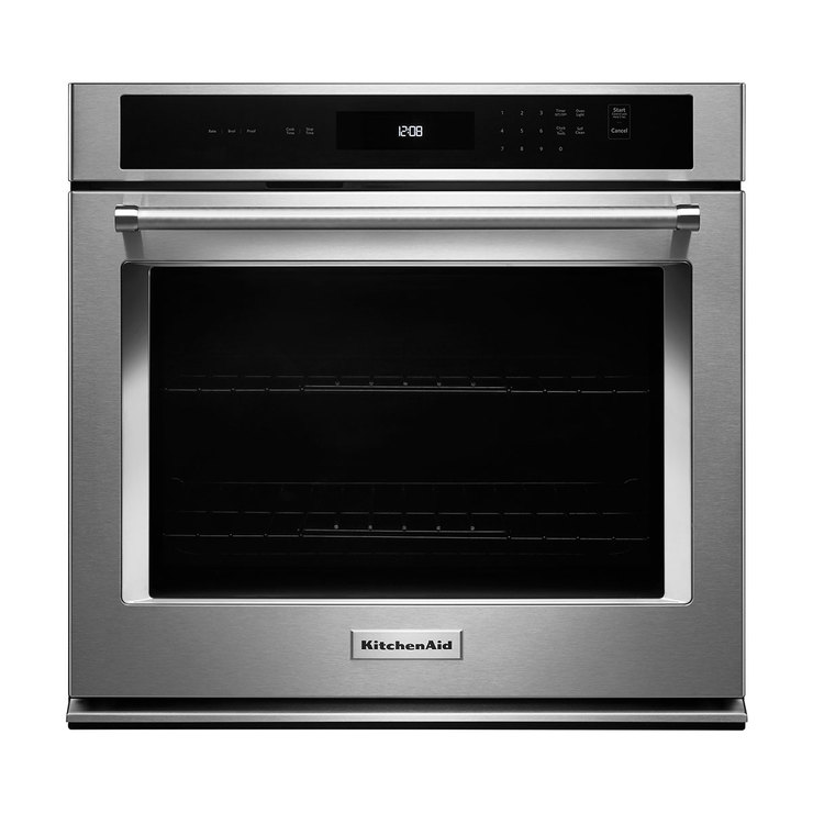 "Horno eléctrico KitchenAid empotrable de 30"" con EvenHeat™"