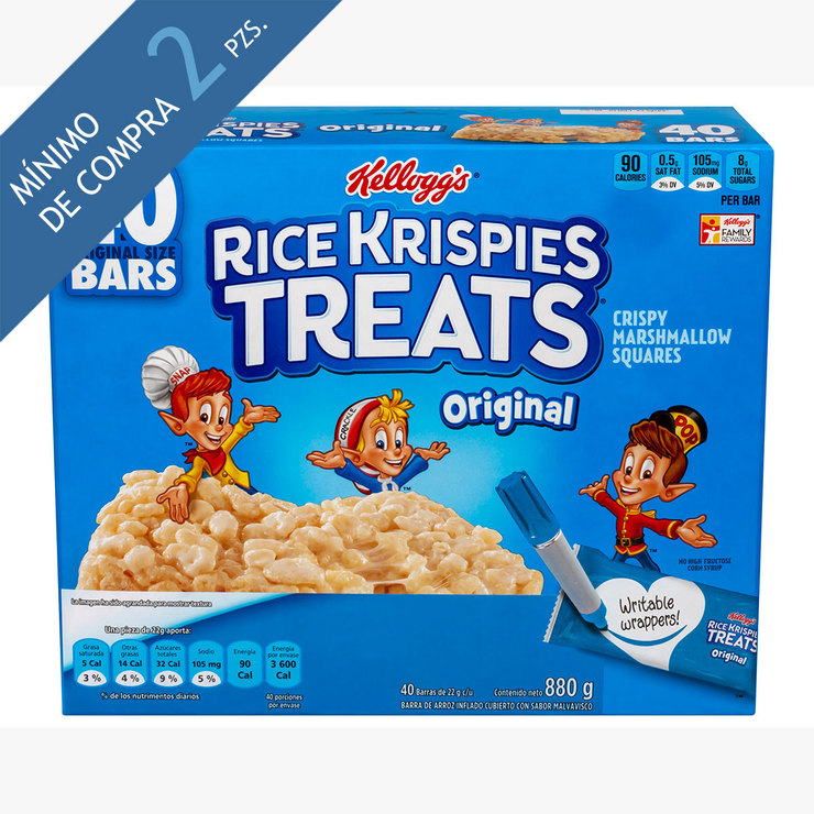 Rice krispies barras de arroz inflado 880g