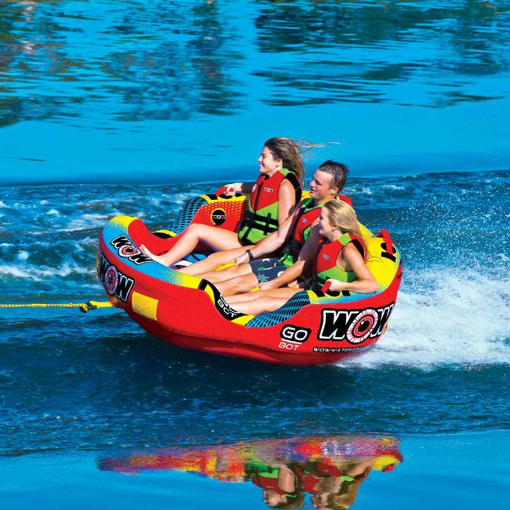 Bote Inflable Remolcable para 3 personas, Wow Watersports