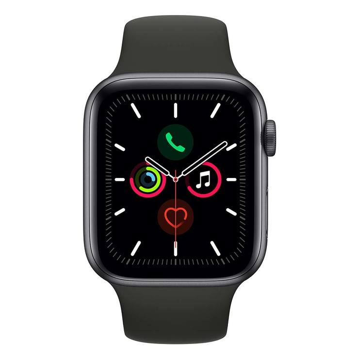 Apple Watch Series 5 + Celular Caja de Aluminio de 44mm de Color Gris Espacial con Correa de Color Negro