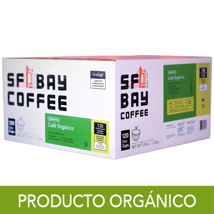 San Francisco Bay Coffee, Café Orgánico, 120 Cápsulas OneCup Compostables