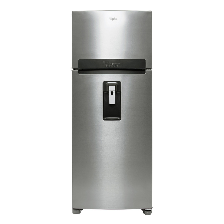 Refrigerador Whirlpool de 18' Top Mount, color silver