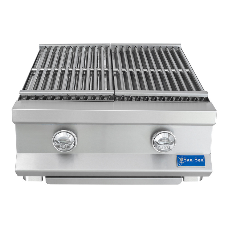 "Asador radiante San Son 24"", acero inoxidable"