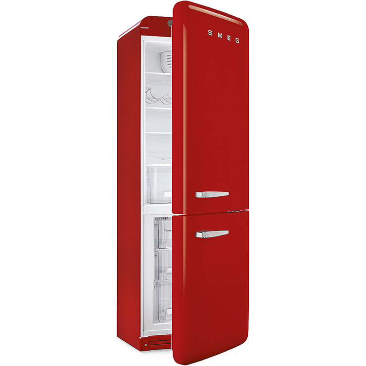 Refrigerador Smeg de 13' Bottom Mount, color rojo
