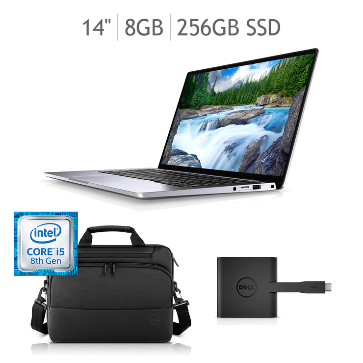 "Dell NB Latitude Laptop 7400 14""  CI5-8265U Bundle (Con replicador de puertos y Maletín)"
