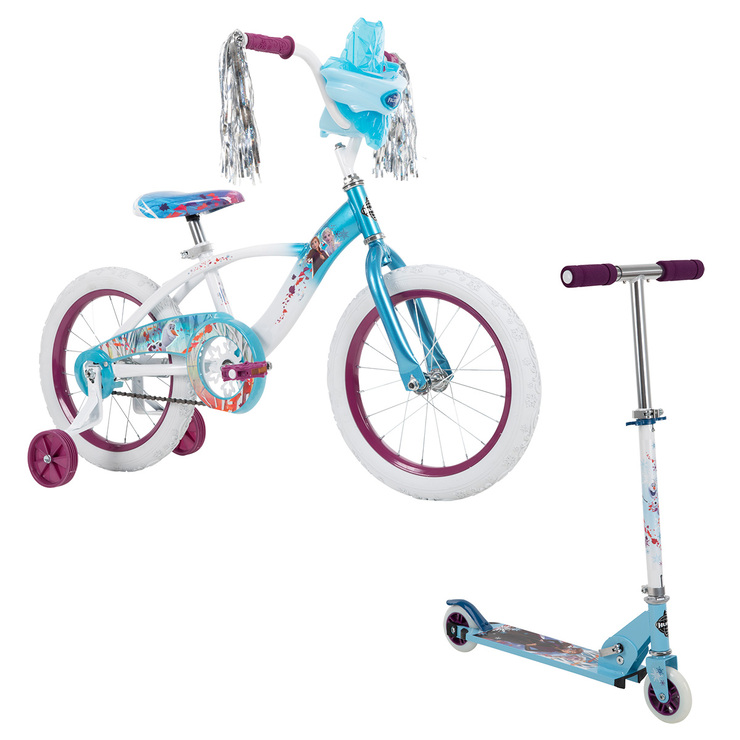 Bicicleta R16 y Scooter, Huffy Disney® Frozen