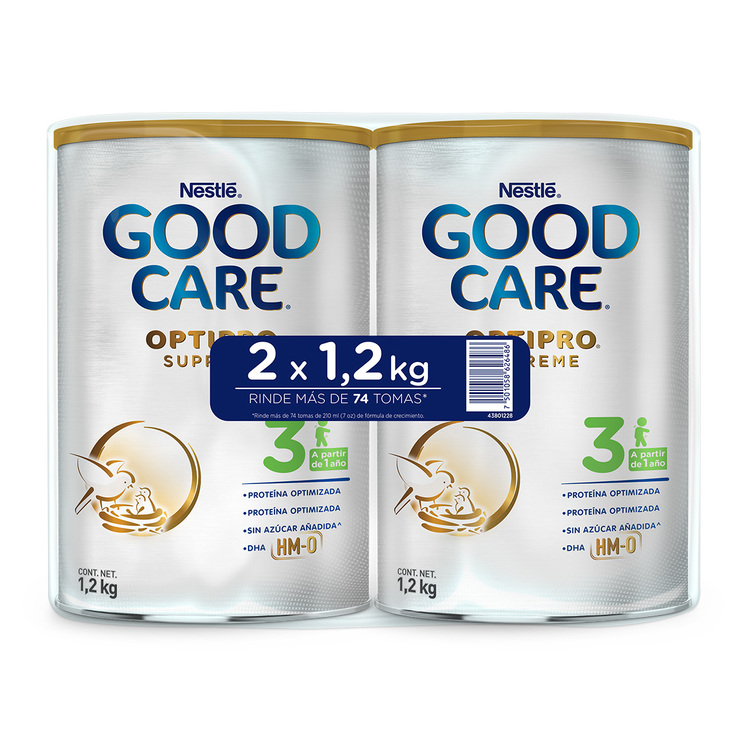 Fórmula Láctea para Bebé, Nestle Good Care, 2 latas