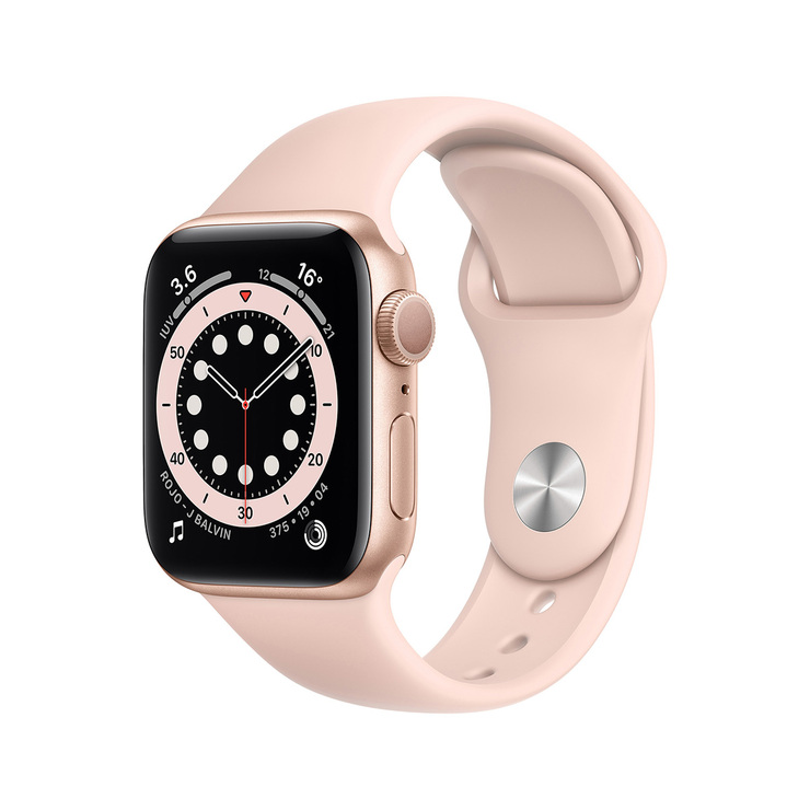 Apple Watch Series 6 (GPS) Caja de Aluminio Oro 40 mm con correa deportiva rosa arena